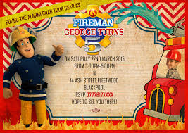 Fireman Sam Party Recommendation Firefighter Invitation Templates ...