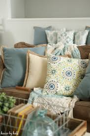 Pier One Outdoor Throw Pillows by Bringing An Outdoor Bench Inside New Throw Pillows Again