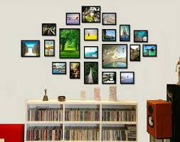 Picture Frame Collage Ideas For Wall Incredible Frames With Regard To Photo Decor 12