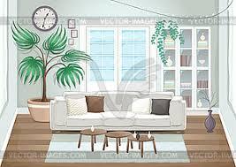 elegantes wohnzimmer vector clipart vektor bild