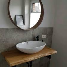 holzplatte badezimmer eiche baumkante waschtisch geölt