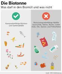 richtige müllentsorgung was in die biotonne darf und was