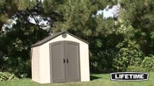 Keter 10x8 Stronghold Shed by Lifetime 8x10 Plastic Storage Shed 6405 Youtube