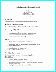 Sample Resume For Clerical Administrative Beautiful Examples