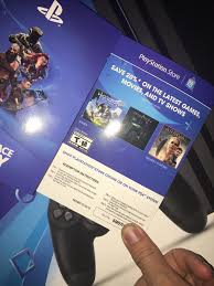 Reminder/PSA: New Ps4's Come With Coupons Or Psn Credit At The Back ...