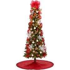 Silver Tip Christmas Tree Artificial by 7 U0027 Pre Lit Brinkley Pine Christmas Tree With Red And Silver