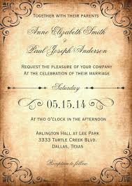 Rustic Vintage Wedding Invitation Tempalate Download