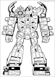 Coloring Page Power Rangers Superheroes 61
