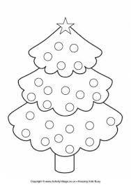 Christmas Tree Colouring Page 3