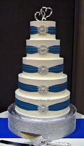 royal blue and silver wedding cakes photo 1