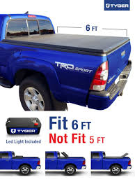 TYGER Tri-Fold Pickup Tonneau Cover Fits 05-15 Toyota Tacoma (with ... Toyota Tacoma With 6 Bed 62018 Retrax Retraxone Tonneau Toyota Tundra Wonderful Tundra Cover Advantage Surefit Snap Truck Rollup Vinyl For Nissan Frontier 5ft Soft Trifold For 1617 Rough Country 0515 Tacoma Bak G2 Bakflip 26406 Hard Folding Revolver X2 Steffens Automotive Foldacover Personal Caddy Style Step Amazoncom Extang 44915 Trifecta How To Remove A G4 Elite Or Ls Series