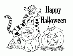 Halloween Printable Winnie The Pooh Coloring Page