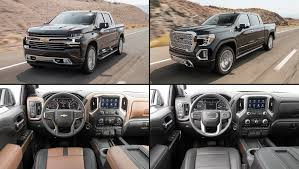 2019 Chevrolet Silverado High Country Vs. 2019 GMC Sierra Denali ... New 2018 Gmc Sierra 1500 Denali Crew Cab Pickup 3g18303 Ken Garff In North Riverside Nextgeneration 2019 Release Date Announced Trucks Seven Cool Things To Know Drops With A Splitfolding Tailgate First Review Kelley Blue Book Trucks Suvs Crossovers Vans Lineup Fremont 2g18657 Sid 2017 2500hd Diesel 7 Things Know The Drive Vs Differences Luxury Vehicles And