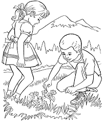 Farm Work And Chores Coloring Page