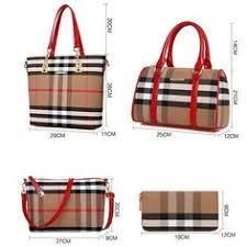 classic pu leather 4 pcs handbag women bags famous brands