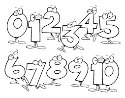Funny Numbers Coloring Pages For Preschool Free On Math Worksheets Kindergarten Easy Color By Number Printable