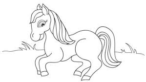 Horse Animal Coloring Pages For Preschool