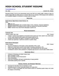 High School Student Resume Sample Download