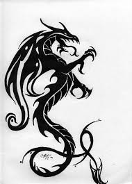 Black Gothic Dragon Tattoo