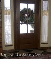 Front Door Side Panel Curtains by Front Doors Compact Front Door Window Treatment Front Door Side