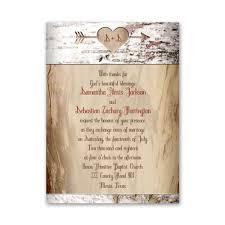 Rustic Wedding Invitations Aged Birch Petite Invitation