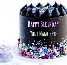 Beautiful chocolate birthday cake with name design