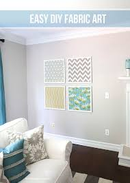 View In Gallery Coordinating Fabric Wall Art DIY