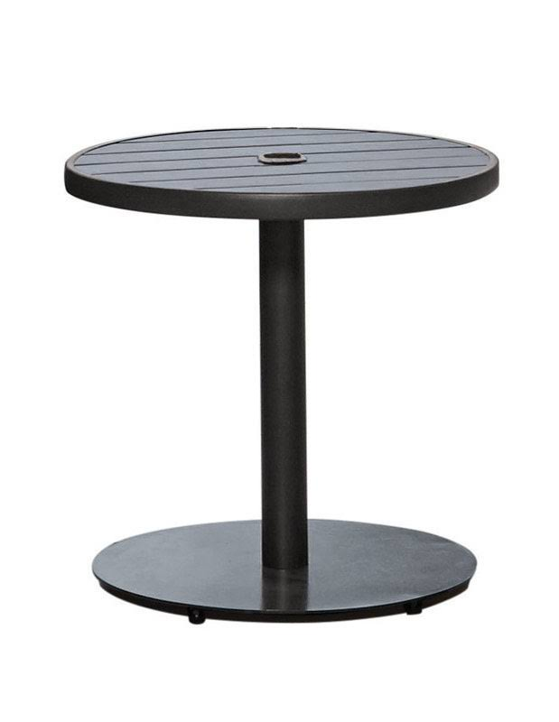 Living Accents Steel Umbrella Base 18 in. H x 22 in. W Dark Walnut