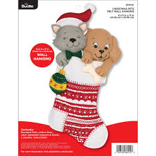 Bucilla Seasonal Felt Home Decor Christmas Pets Wall Hanging