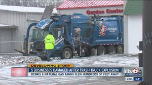 CNG Powered Garbage Truck Explodes - 95 Octane