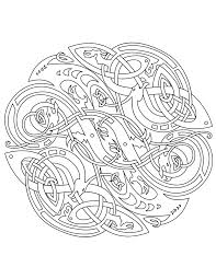 Celtic Vector Colouring Book By Ikue