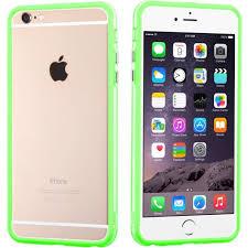 MYBAT Hybrid Bumper iPhone 6 6S Plus Case Apple Green Clear