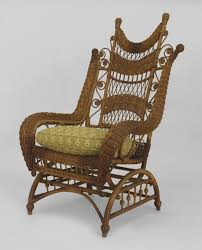 American Victorian Natural Wicker Ornate High Back Platform Rocking ... Italian 1940s Wicker Lounge Chair Att To Casa E Giardino Kay High Rocking By Gloster Fniture Stylepark Natural Rattan Rocking Chair Vintage Style Amazoncouk Kitchen Best Way For Your Relaxing Using Wicker Sf180515i1roh Noordwolde Bent Rattan Design Sold Mid Century Modern Franco Albini Klara With Cane Back Hivemoderncom Yamakawa Bamboo 1960s 86256 In Bamboo And Design Market Laze Outdoor Roda