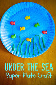 Ocean Theme Preschool Crafts Toddler Craft Ideas Paper Plates Best Bea On For