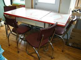 Vintage Kitchen Table Image Of Metal Ideas Old With Drawer