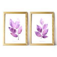 Wall Decor Purple Printable Art Set Of 2 Prints Home