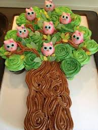 Owls In A Tree Pull Apart Cupcake Cakeadorable
