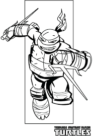 Printable Teenage Mutant Ninja Turtles Coloring Pages Free Colouring Col