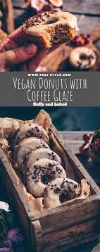 vegan donuts with coffee glaze freistyle by verena