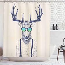 abakuhaus duschvorhang illustration hirsch reh im