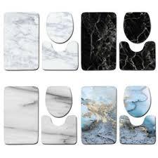 3pcs badematte badvorleger badgarnitur rutschfest marmor