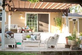 Domestic Fashionista Backyard Patio Furniture Styling Pictures On ... Patio Ideas Backyard Porches Patios Remarkable Decoration Astonishing Back Patio Ideas Backpatioideassmall Covered Porchbuild Off Detached Garage Perhaps Home Is Porch Design Deck Pictures Back Under Screened Garden Front Planter Small Decorating Plans Best 25 Privacy On Pinterest Outdoor Swimming Pools Resorts Living Nashville Pergola Prefab Metal Roof Kit Building A Attached Covered Overhead Coverings