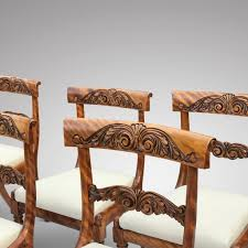 100 Birch Dining Chairs Set Of 6 William IV Satin Hobson May Collection