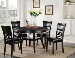 5 Pcs Gia Ebony Round Dining Table Set - 1StopBedrooms. Hillsdale Fniture Monaco 5piece Matte Espresso Ding Set Glass Round Table And 4 Chairs Modern Wicker Chair 5 Pcs Gia Ebony 1stopbedrooms Room Elegant Nook Traditional Sets Cheap Kitchen Elegant Home Design Round Glass Ding Room Table And Chairs Signforlifeden Within Neoteric Design Inspiration Tables Mhwatson For Small