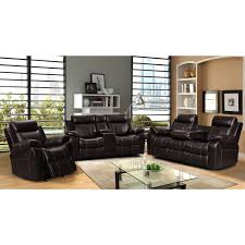 100 Rocking Chair With Books Shop Sherry Dark Brown Leather Air 3 Pc Reclining Sofa Set And