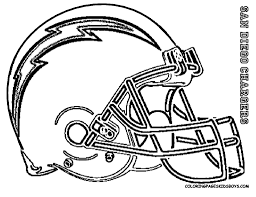 Coloring Pages For Football San Diego Chargers