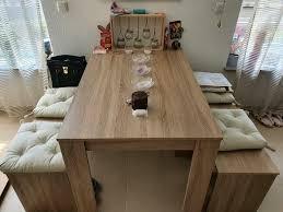 esstisch esszimmer sitzbank mit kissen sonoma eiche tisch