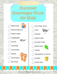 Halloween Treasure Hunt Clues Free by Summer Scavenger Hunt For Kids Free Printable