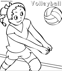 Volleyball Coloring Kids Color Picture