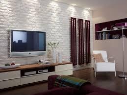 wohnzimmer wandverkleidung verblendsteine backsteinoptik